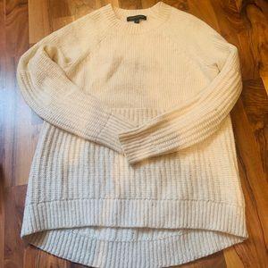 Cream hi low sweater